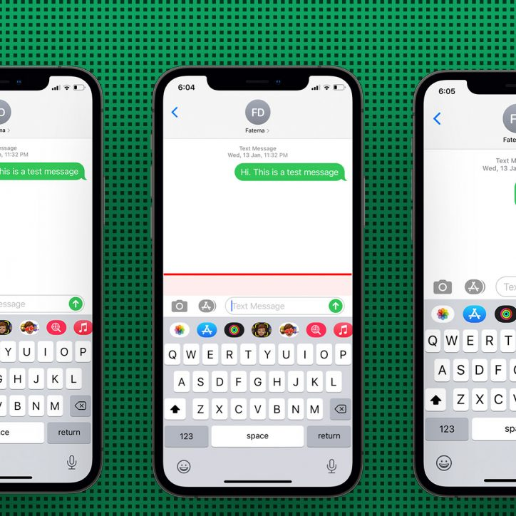 Demonstration of how to make iPhone keyboard bigger.