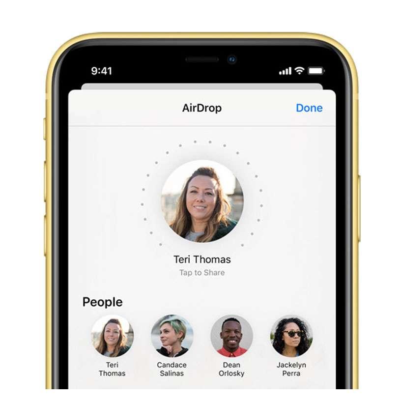 airdrop iphone11