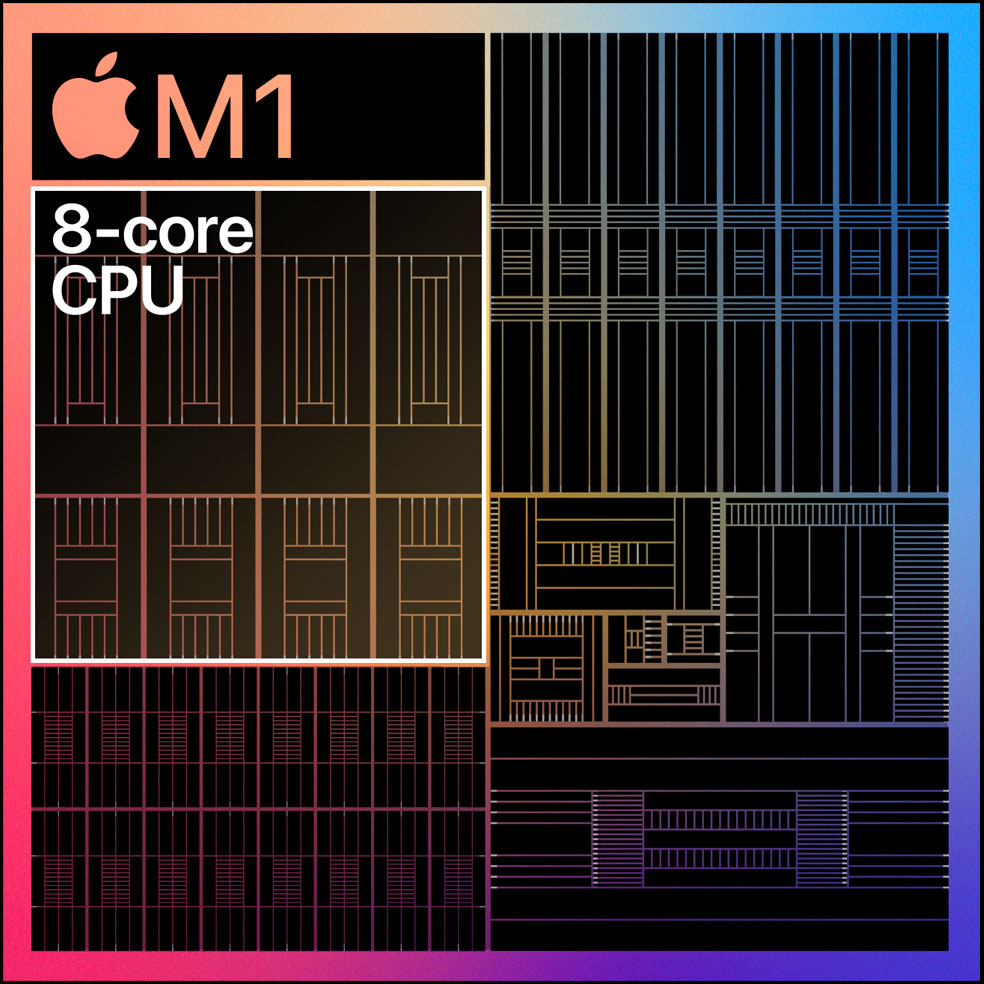 Apple's M1 Chip core breakdown.