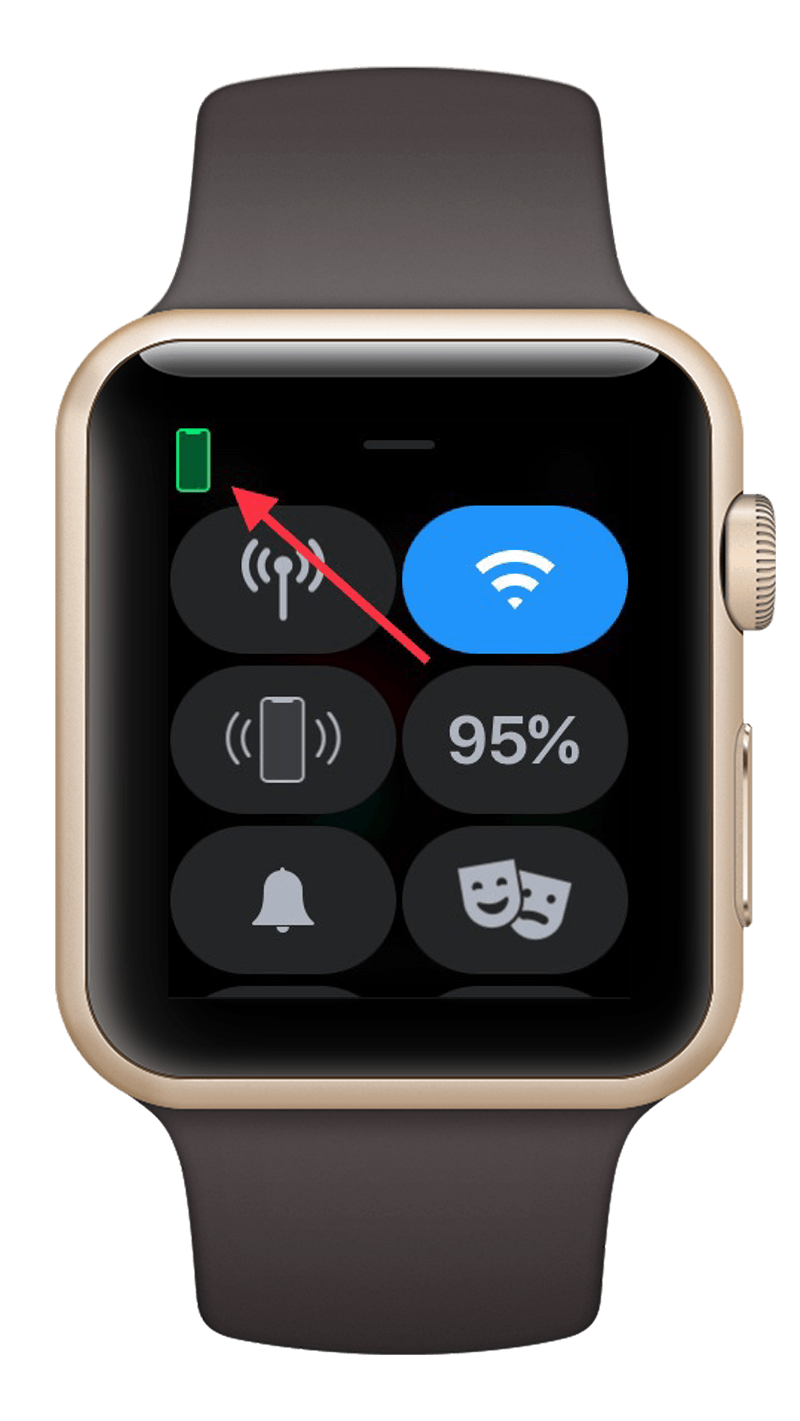 Apple Watch connection to iPhone indication.