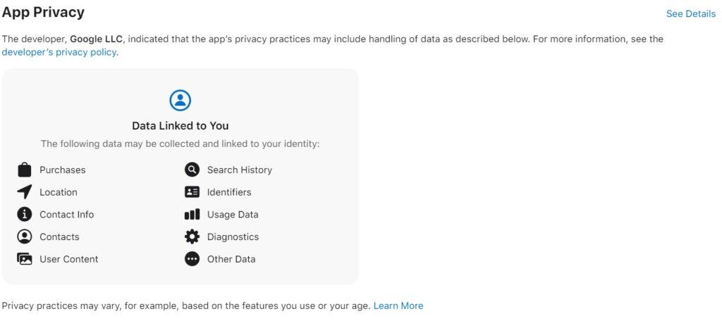 Google Drive App Privacy