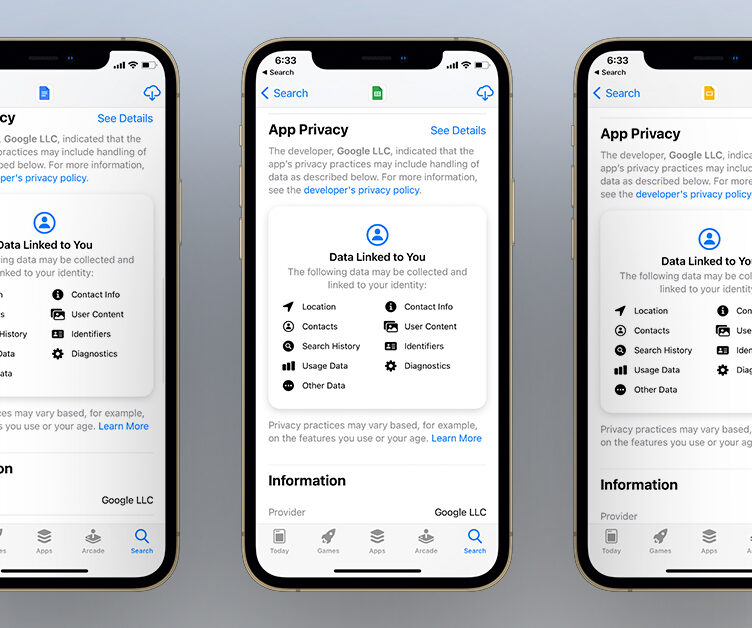 Google Productivity apps privacy update