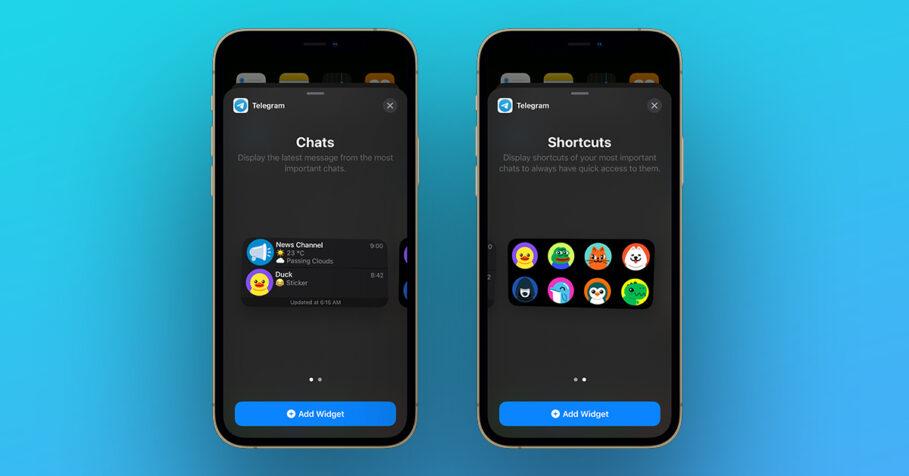 Telegram iOS 14 Widgets update
