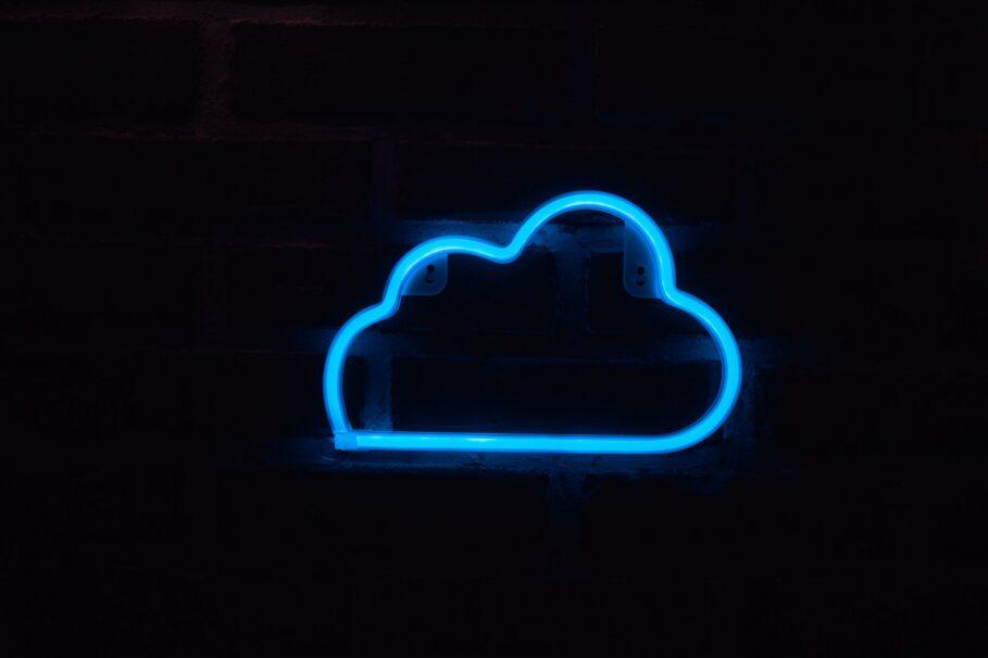 iCloud Neon Sign