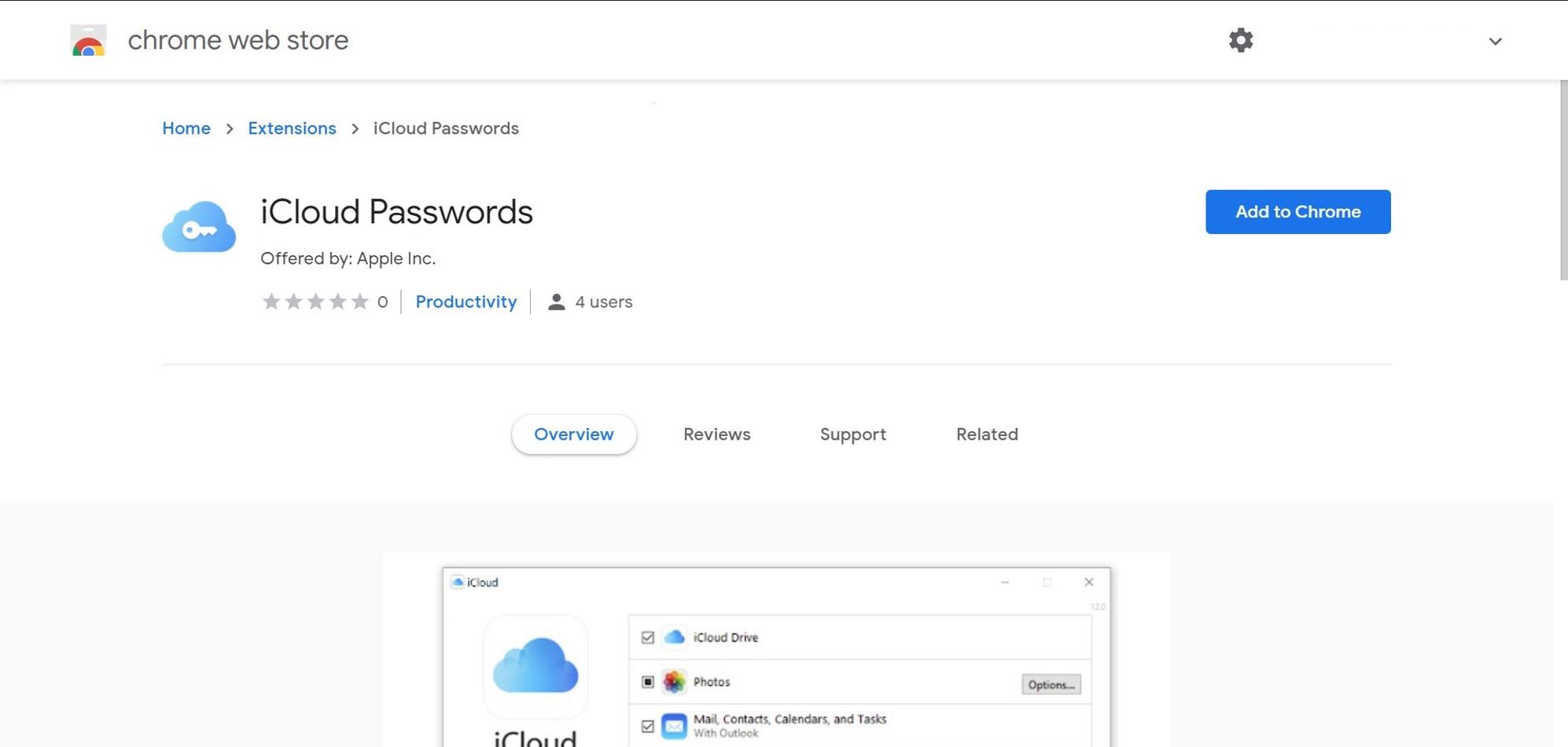 iCloud passwords plugin