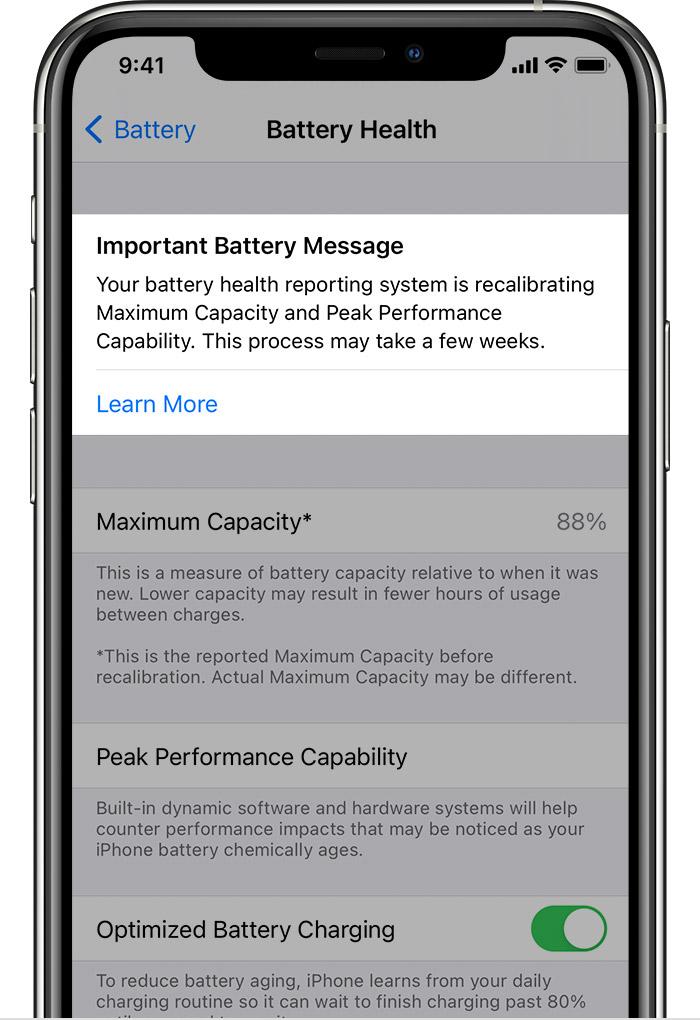 Battery Recalibration