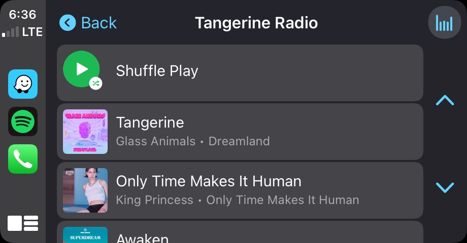 Spotify Go To Song Radio Carplay 2