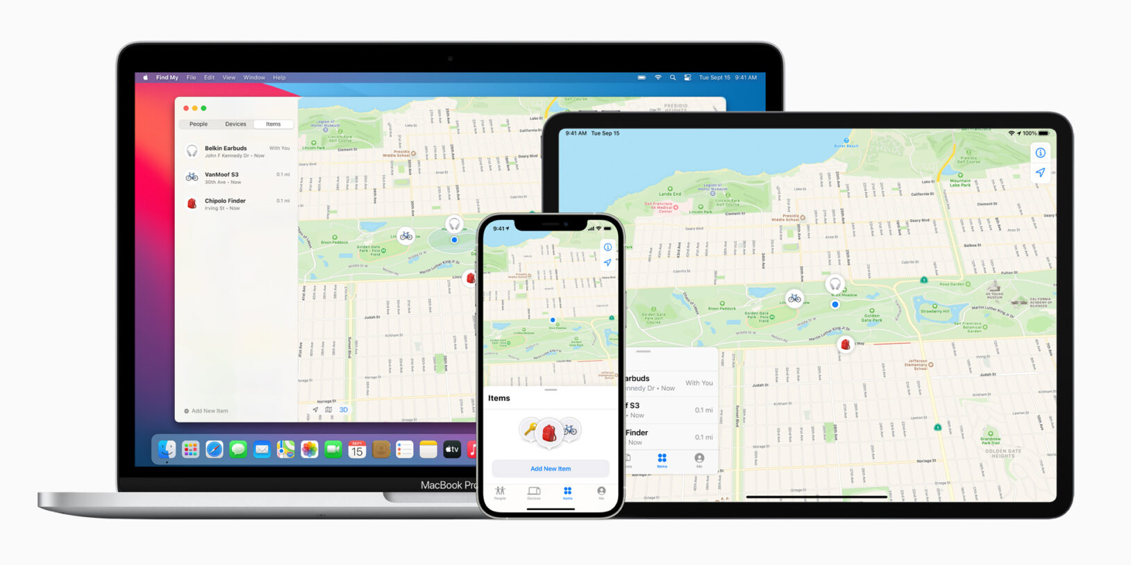 Apple find my network now offers new third party finding experiences macbookpro ipadpro iphone12pro 040721 big.jpg.large 2x