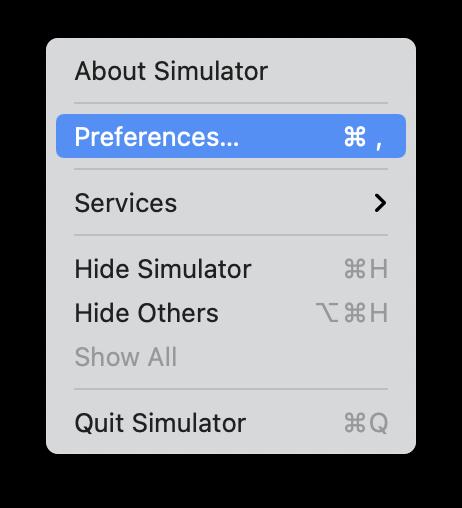 Simulator Preferences 2