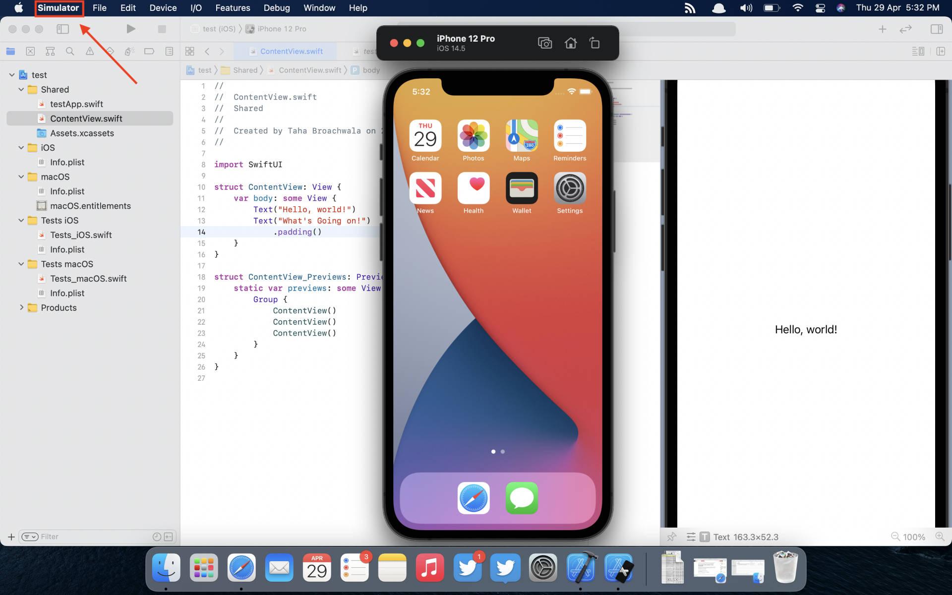 Simulator Preferences Xcode Screen Recording