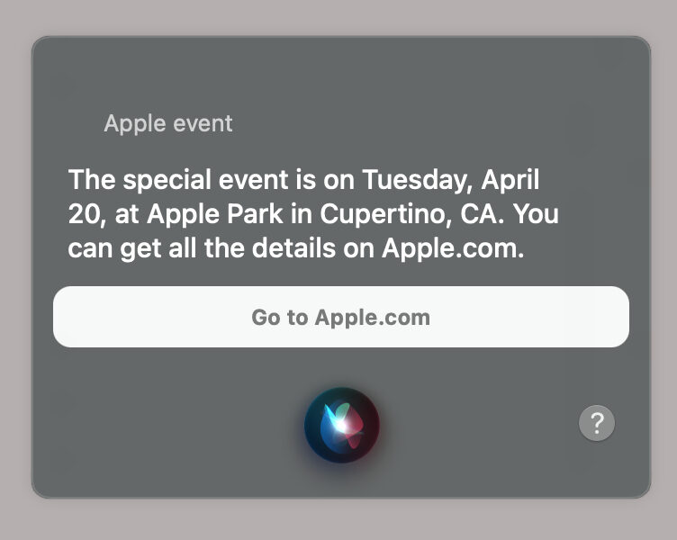Siri Apple Event Slip Up