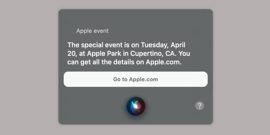 Siri Apple Event Slip Up