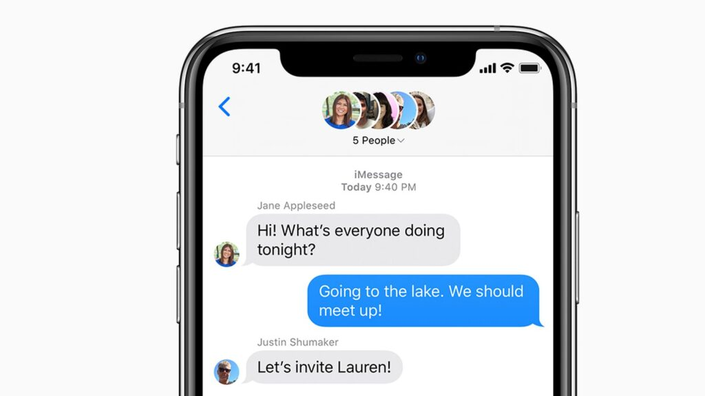 ios13 iphone xs messages group message social card