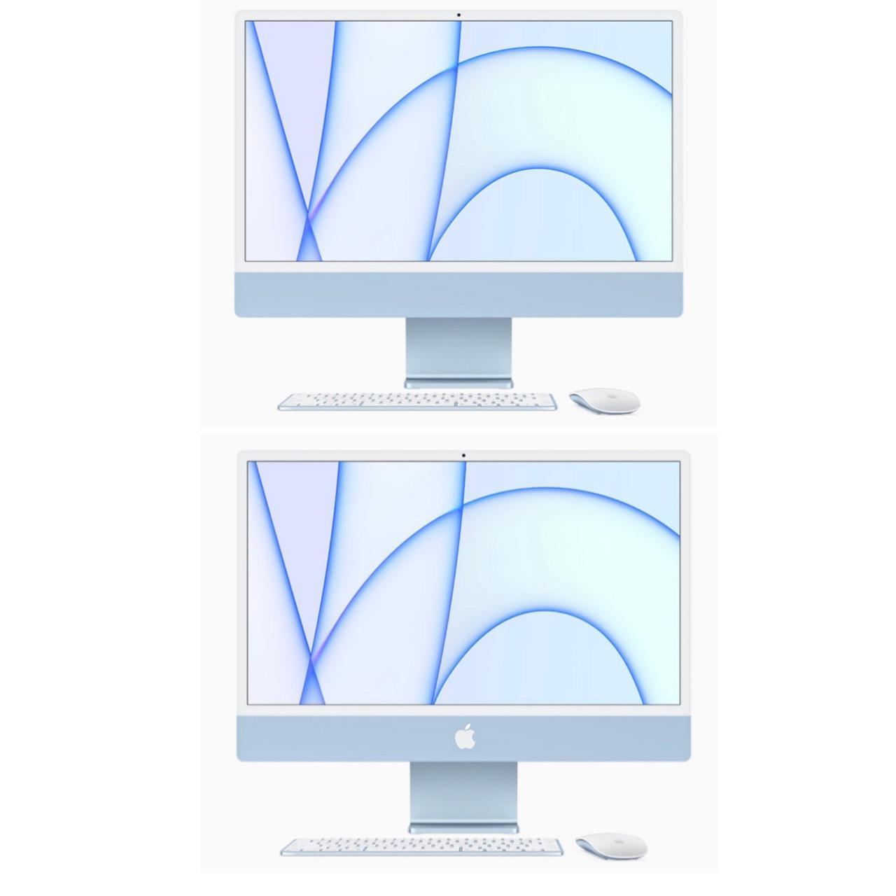 iMac with an Apple logo.