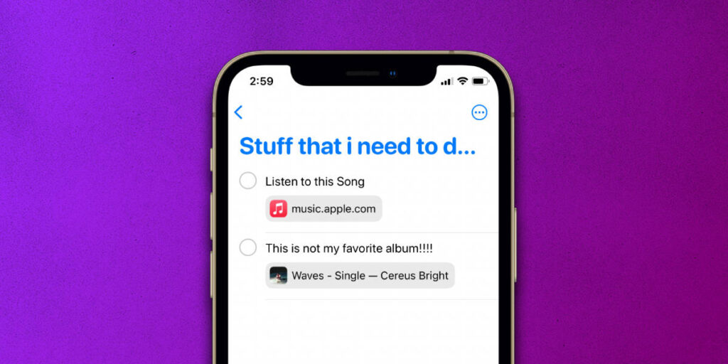 How to set Apple Music Reminders within the Reminders app