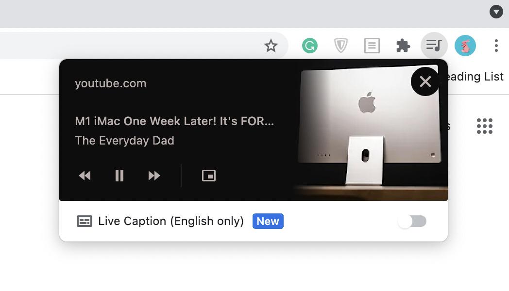 Chrome's Sound Manager.