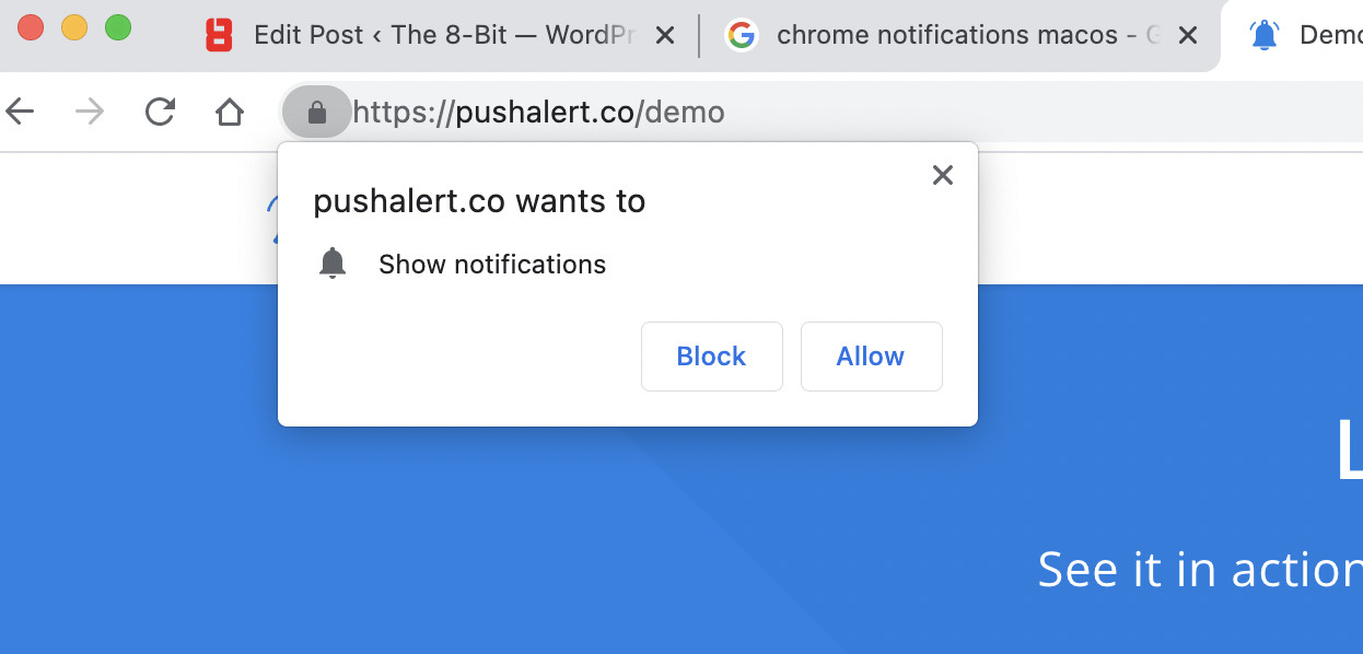 Chrome Notification Prompt