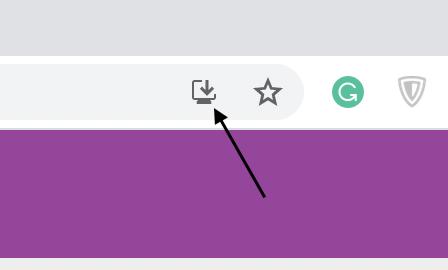 Chrome PWA button