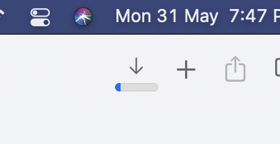 Safari Download Progress Bar