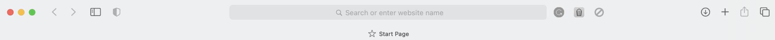 Safari's toolbar.