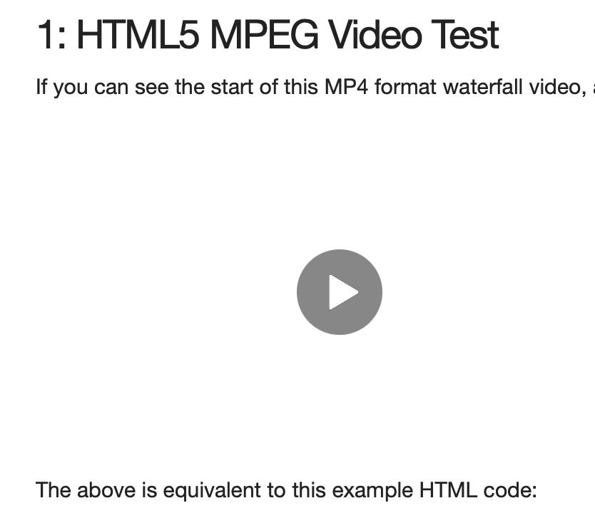Safari HTML5 Thumbnails