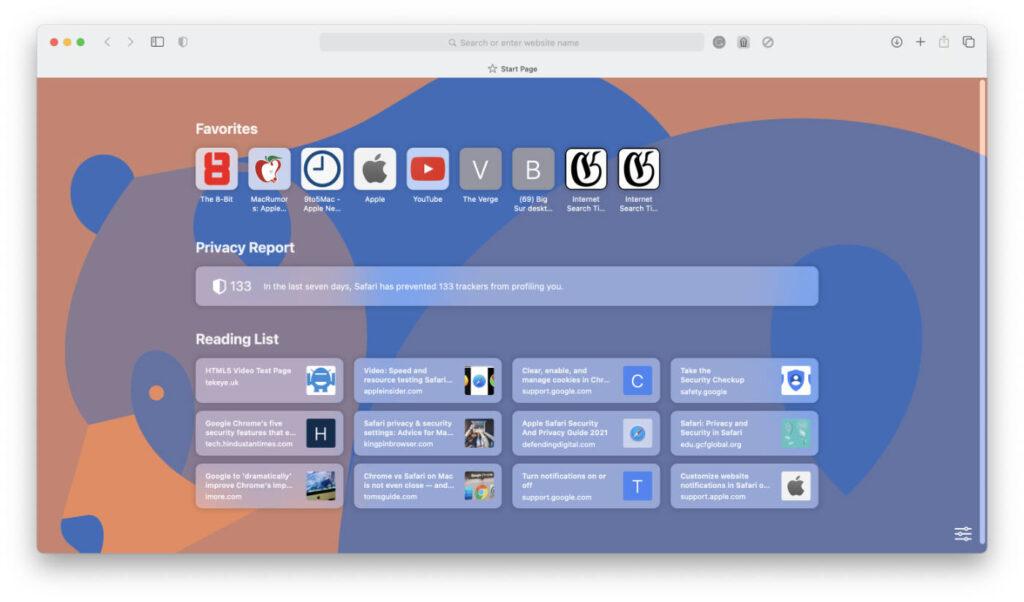 Safari Homepage