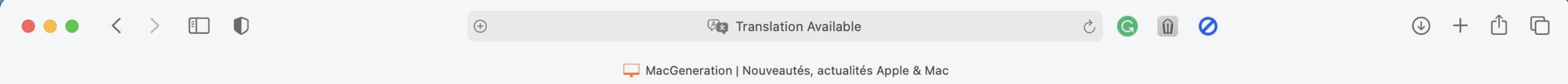 "Safari's ""Translation Available"" label"
