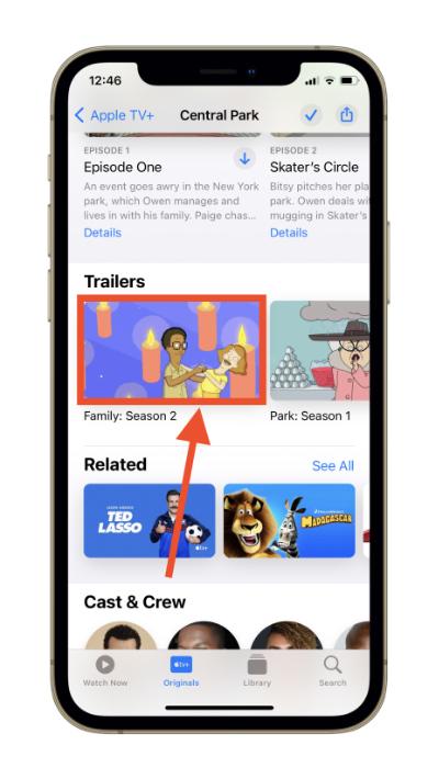 Apple TV app content iOS 15.