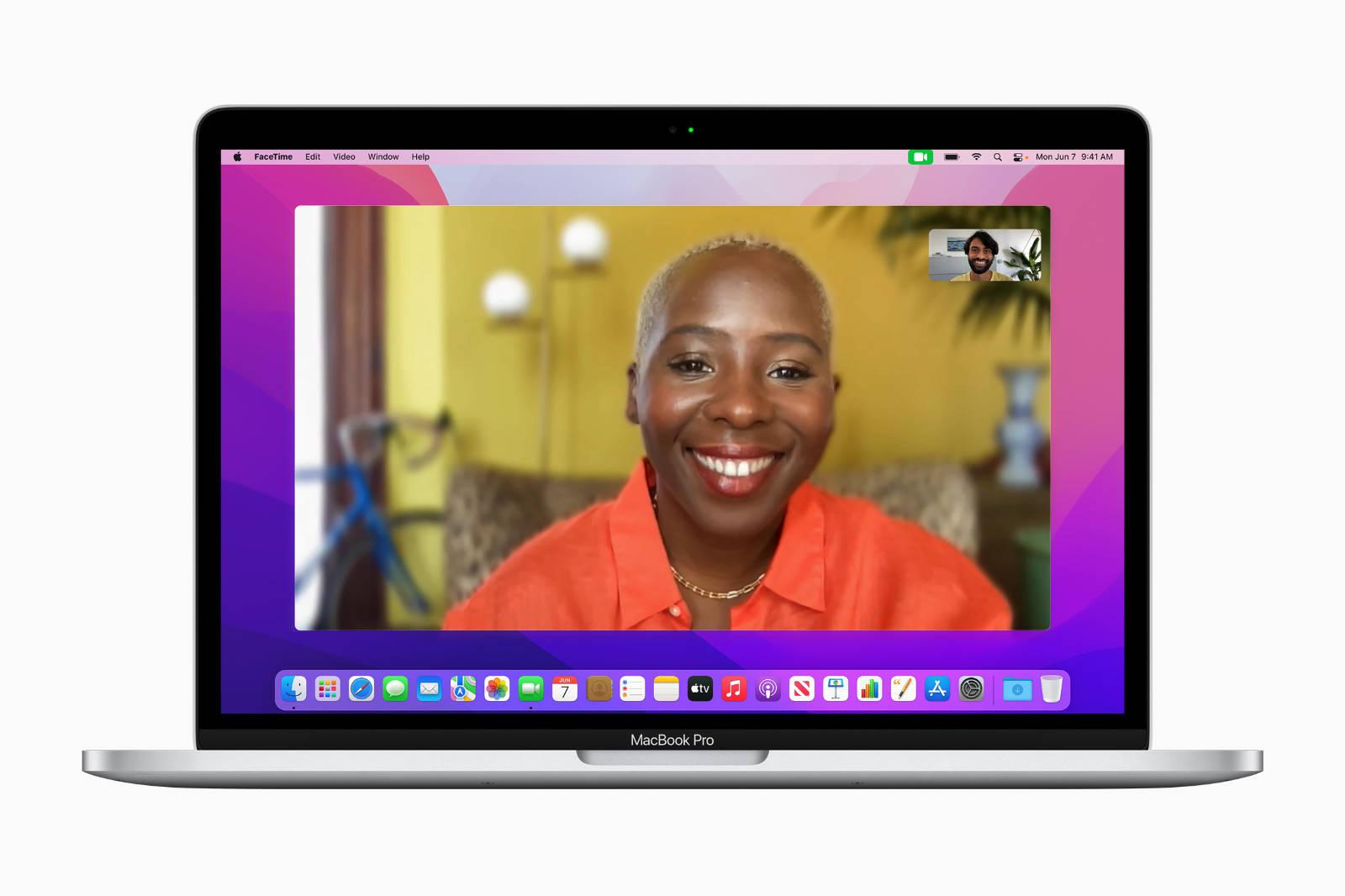 MacOS Monterey FaceTime Image