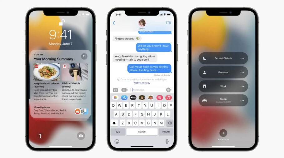 Auto reply Focus Mode macOS Monterey iOS 15