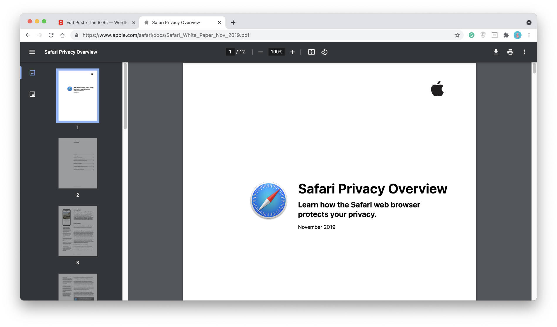 Chrome's PDF viewer.