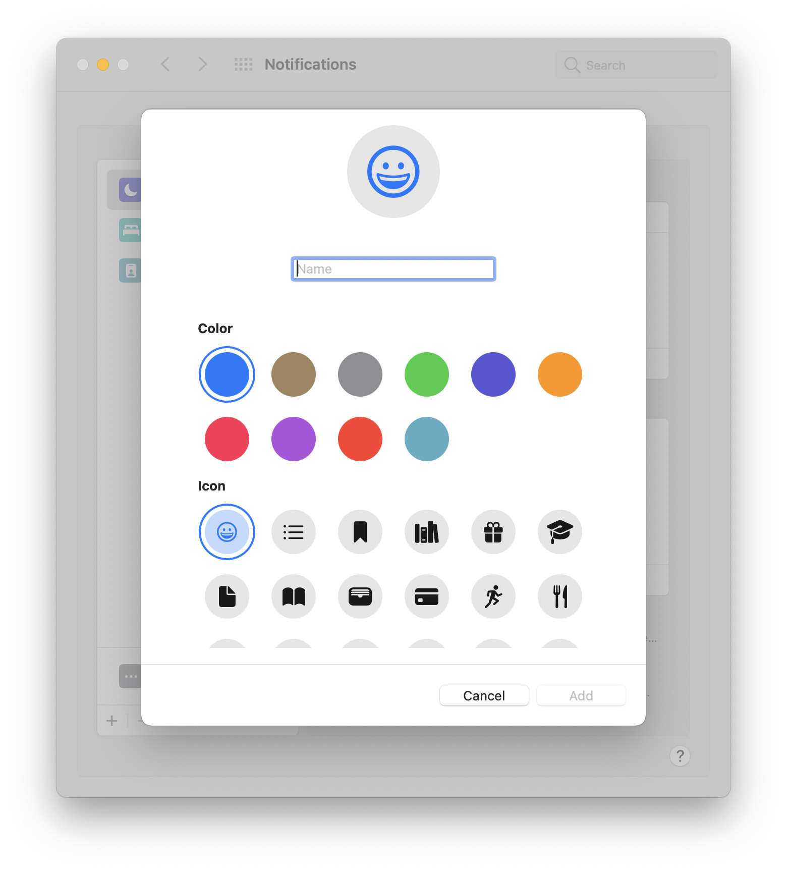 Customizing a new Focus filter.