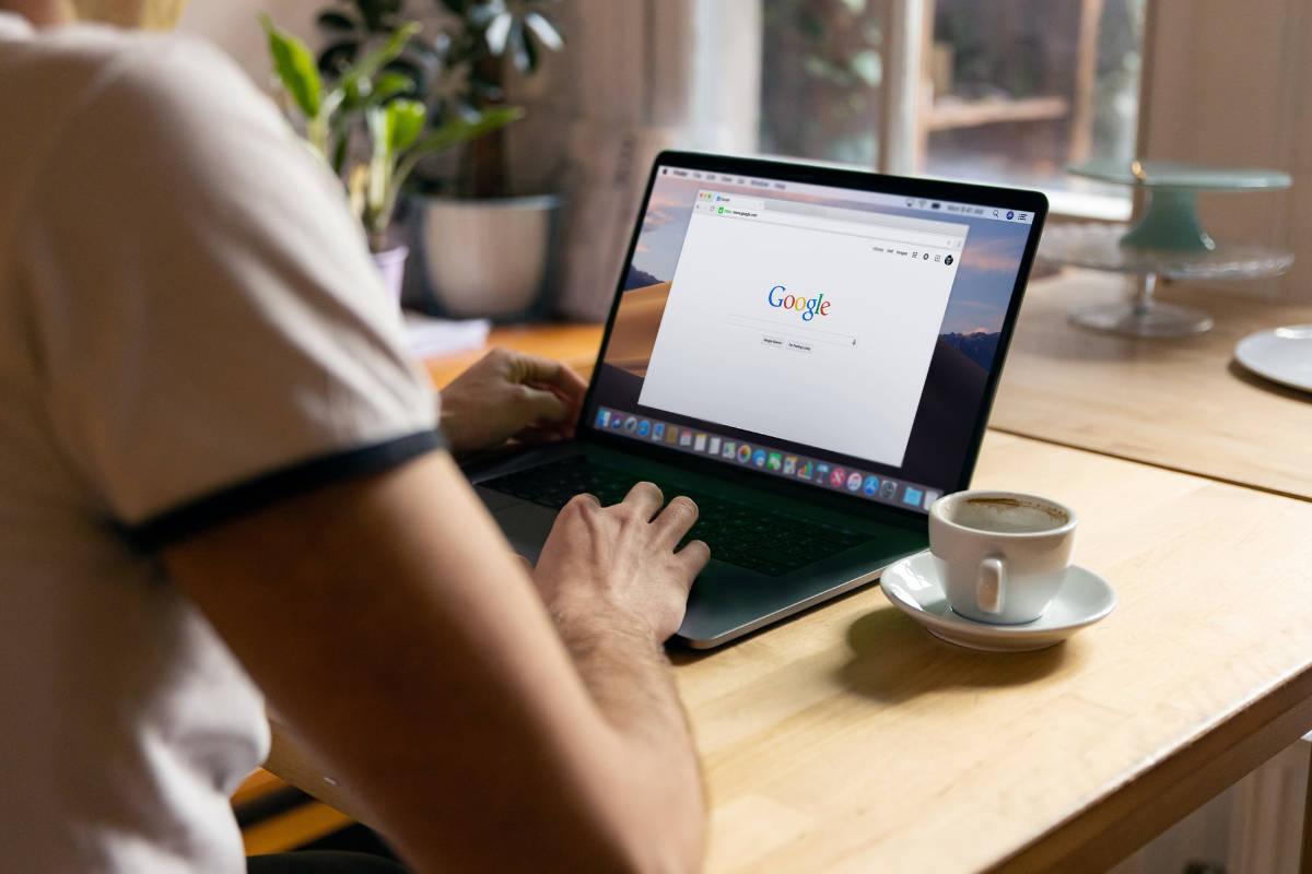 A person using Google Chrome on a Mac.