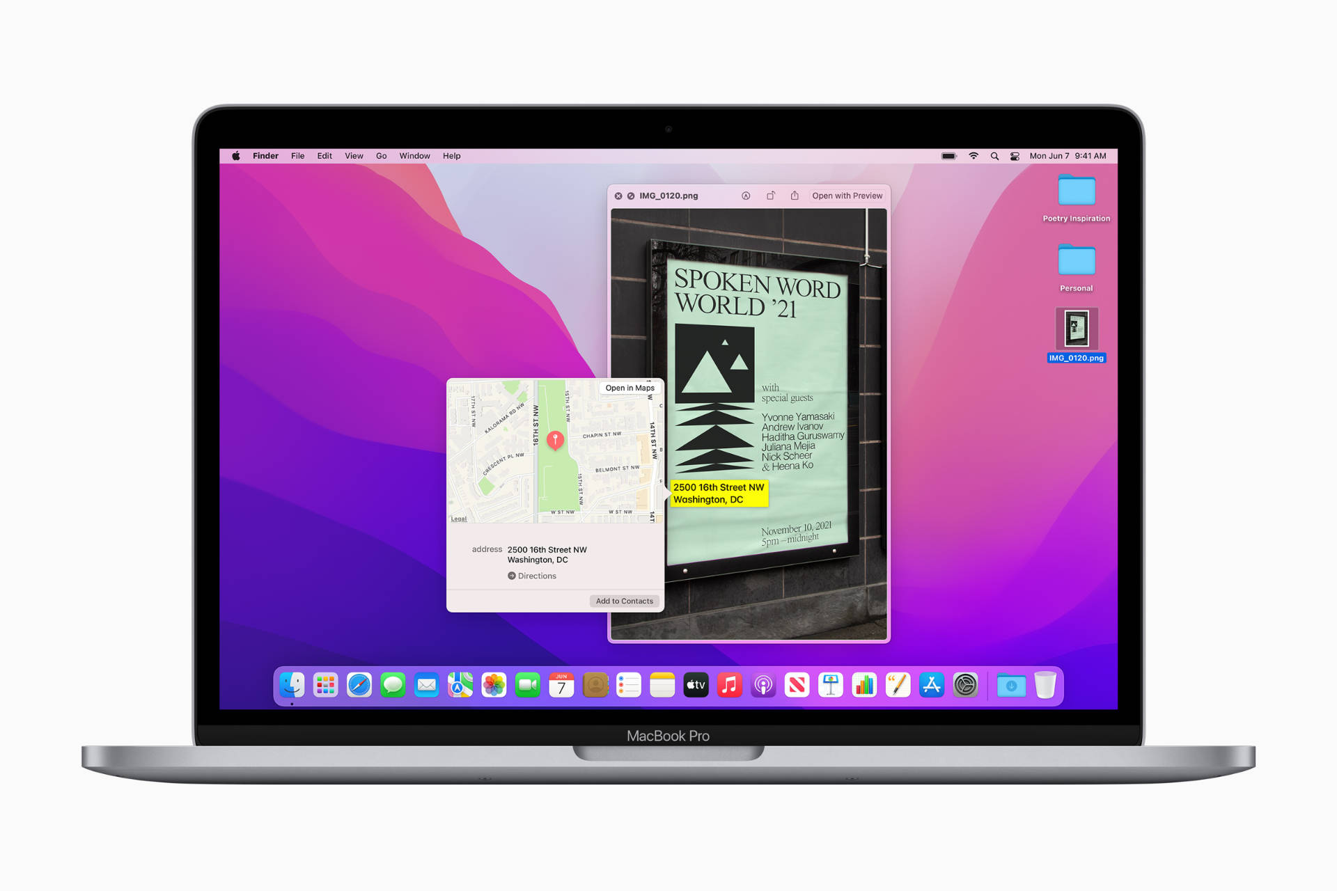 Live Text in macOS Monterey