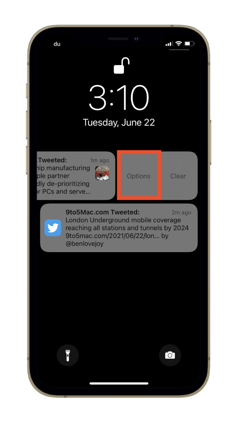 Notification Options in iOS 15