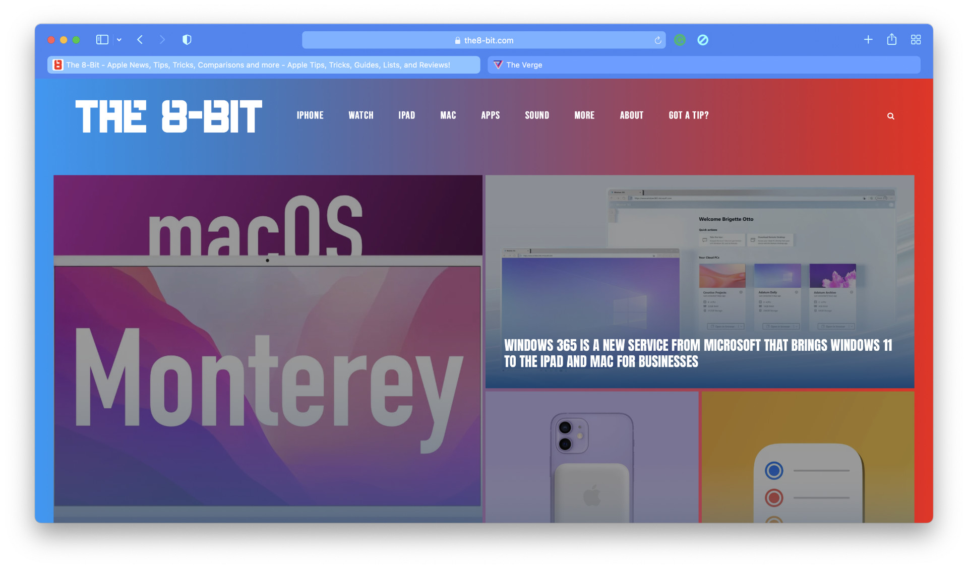 Safari 15 Beta 3 tab layout