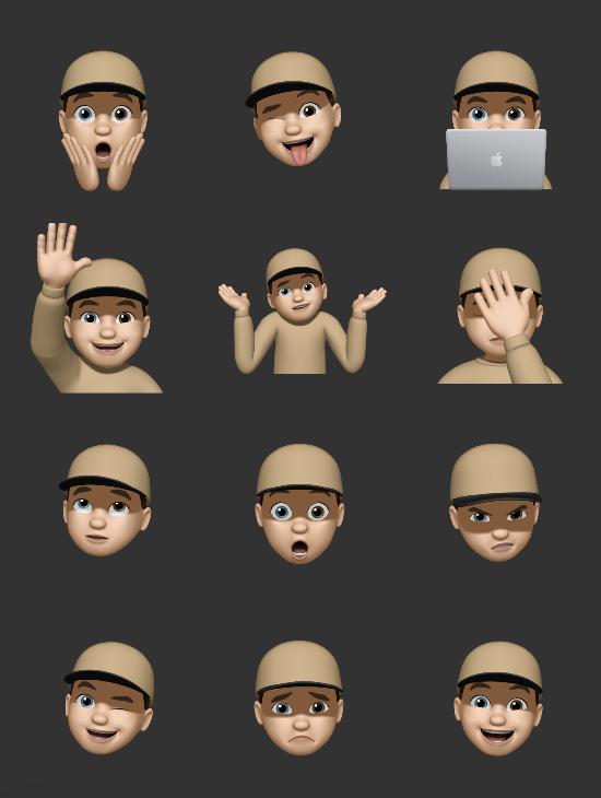 Memoji Outfits in macOS Monterey Beta 2