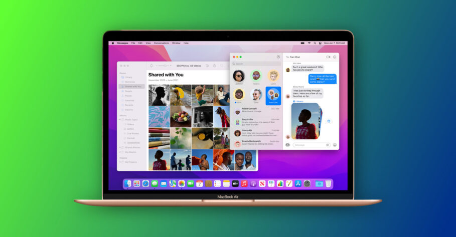 Shared With You in macOS Monterey and iOS 15