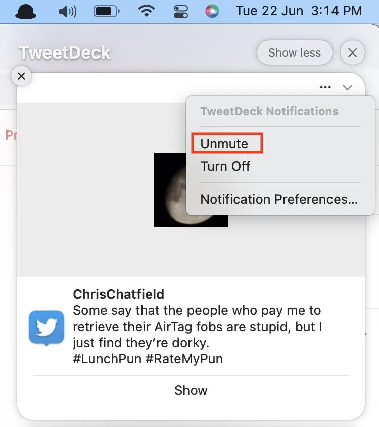 Unmute Notifications macOS 12