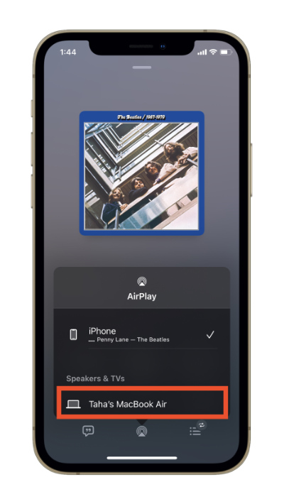 AirPlay Music from iPhone or iPad to Mac.