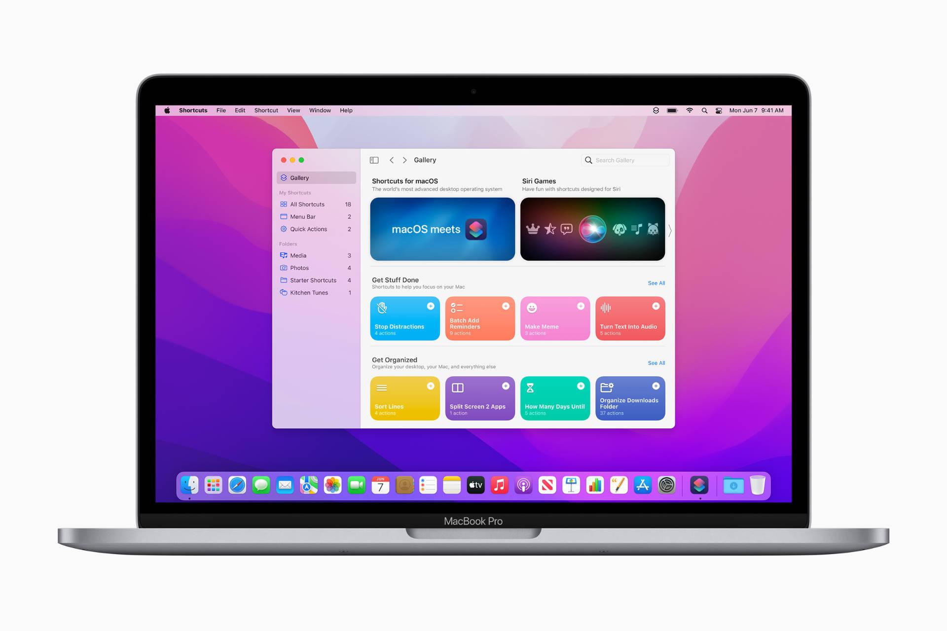 Shortcuts in macOS Monterey