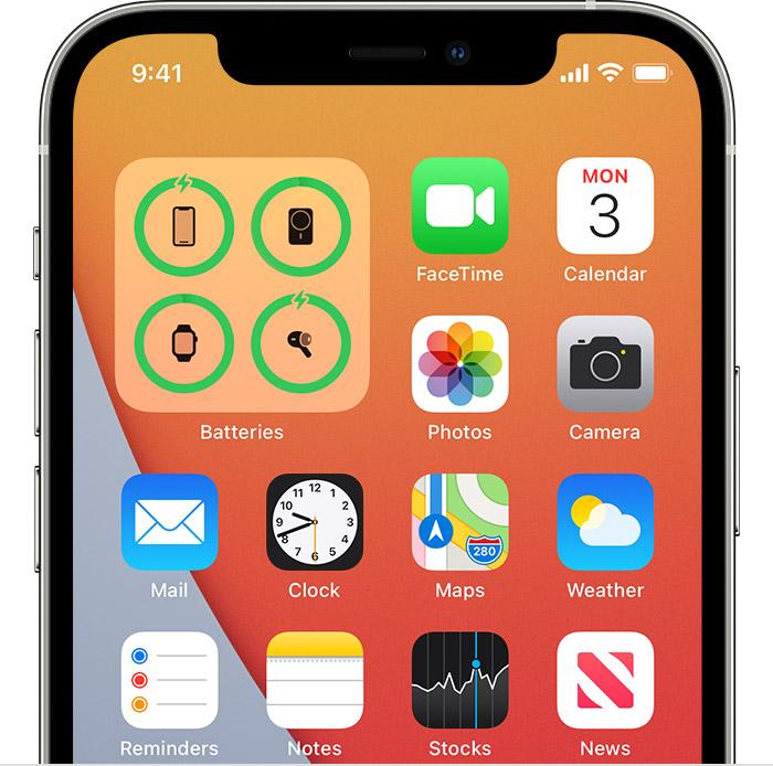 Batteries Widget Home Screen