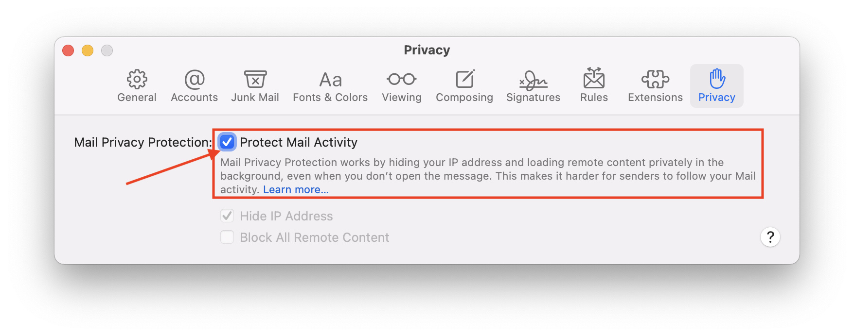 How to enable Mail Privacy Protection on macOS Monterey
