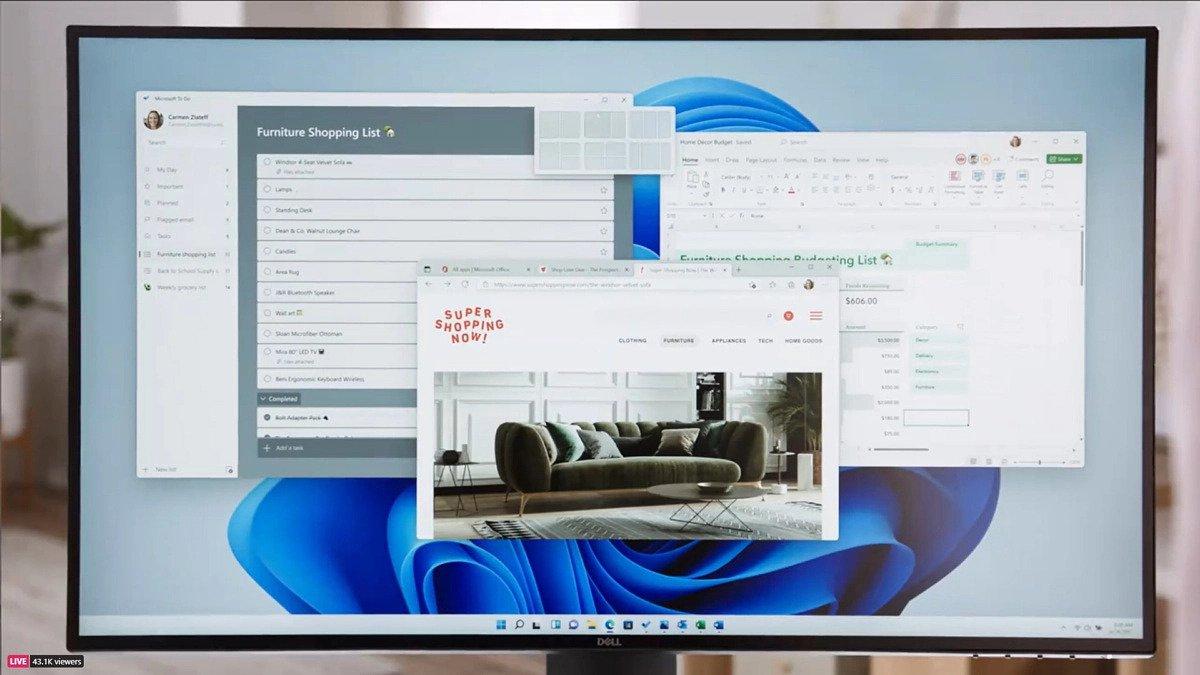Windows 11 Multitasking.