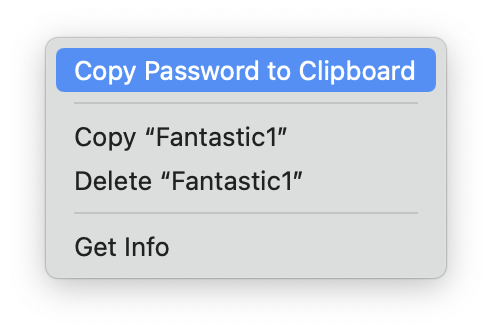 Copy Password to Clipboard