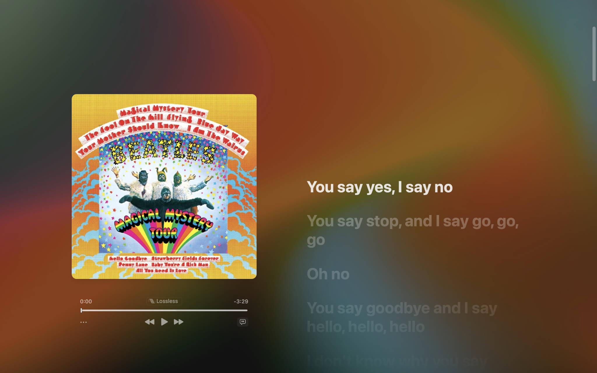 Music App Full Screen Lyrics