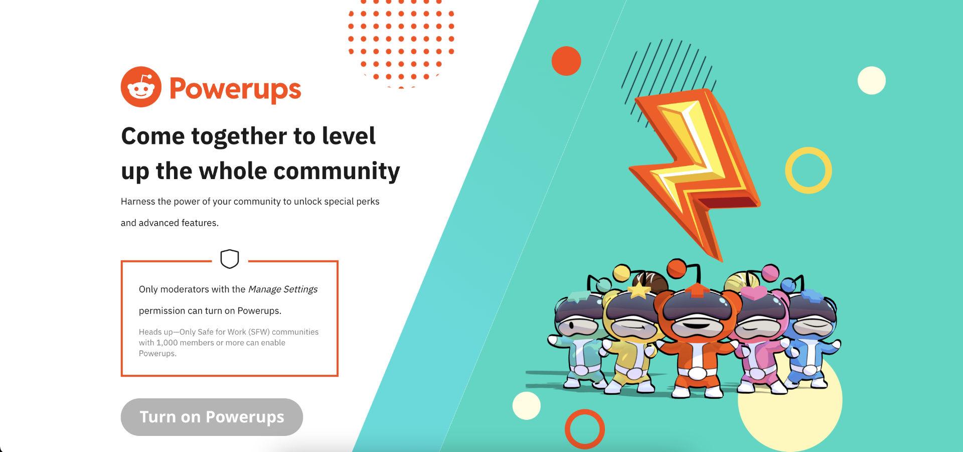 Reddit Powerups Webpage